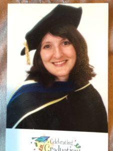 Lisa Cromer at PhD graduation