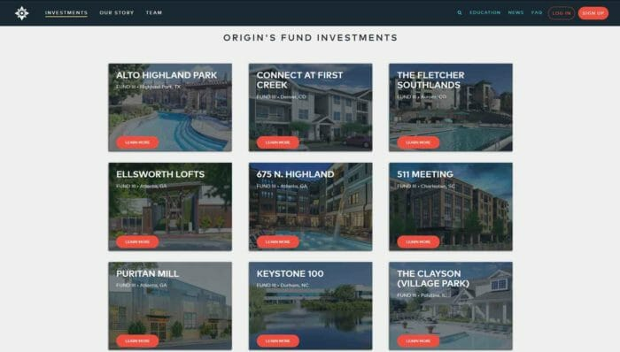 origins funds investments