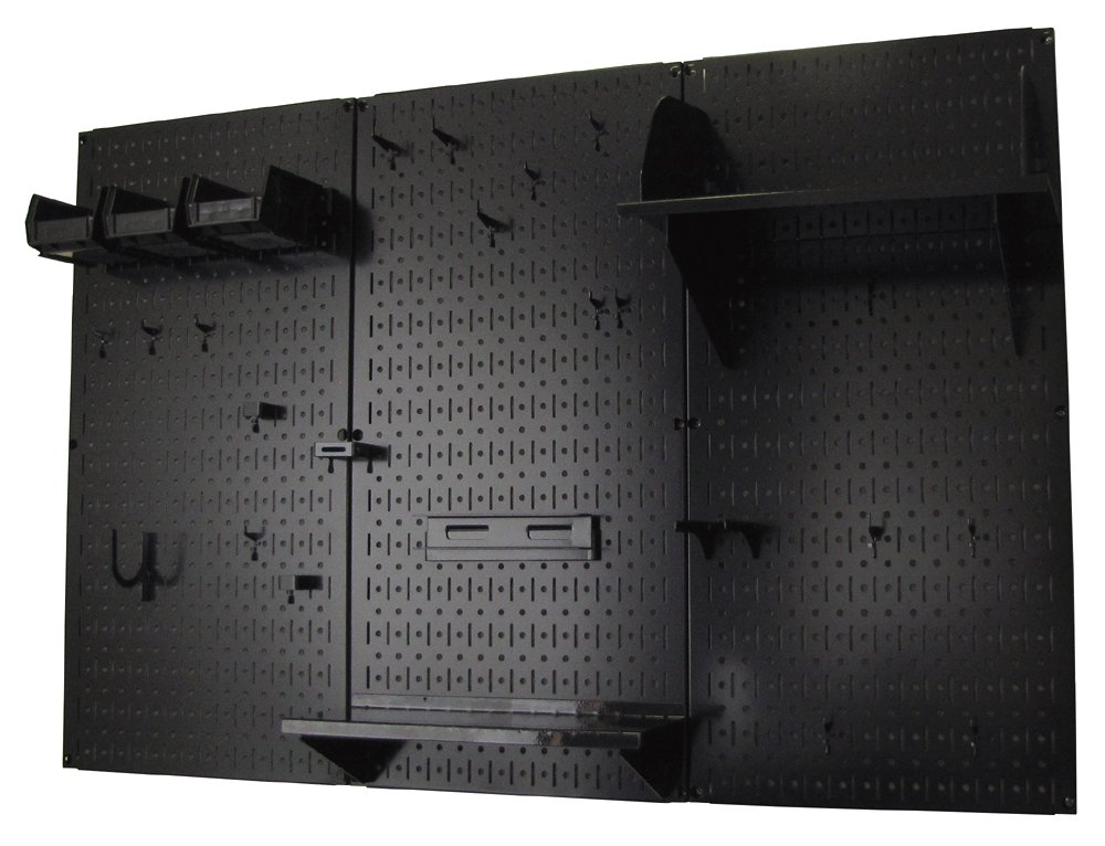 Pegboard-Organizer-Wall-Control-4-ft-Metal-Pegboard-Standard-Tool-Storage-Kit-with-Black-Toolboard-and-Black-Accessories