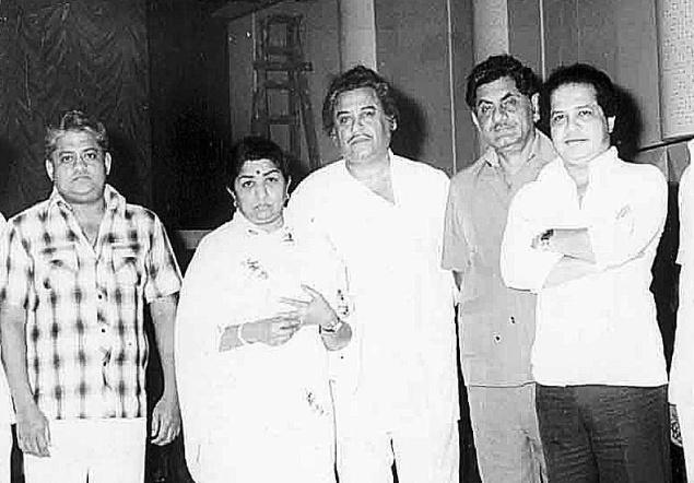 Laxmikant Pyarelal With Kishore Kumar And Lata Mangeshkar