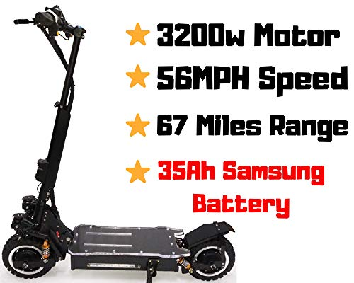 THE OUTSTORM 56MPH Ultra High Speed Electric Scooter for Adults Foldable, 3200W Peak Power Dual...