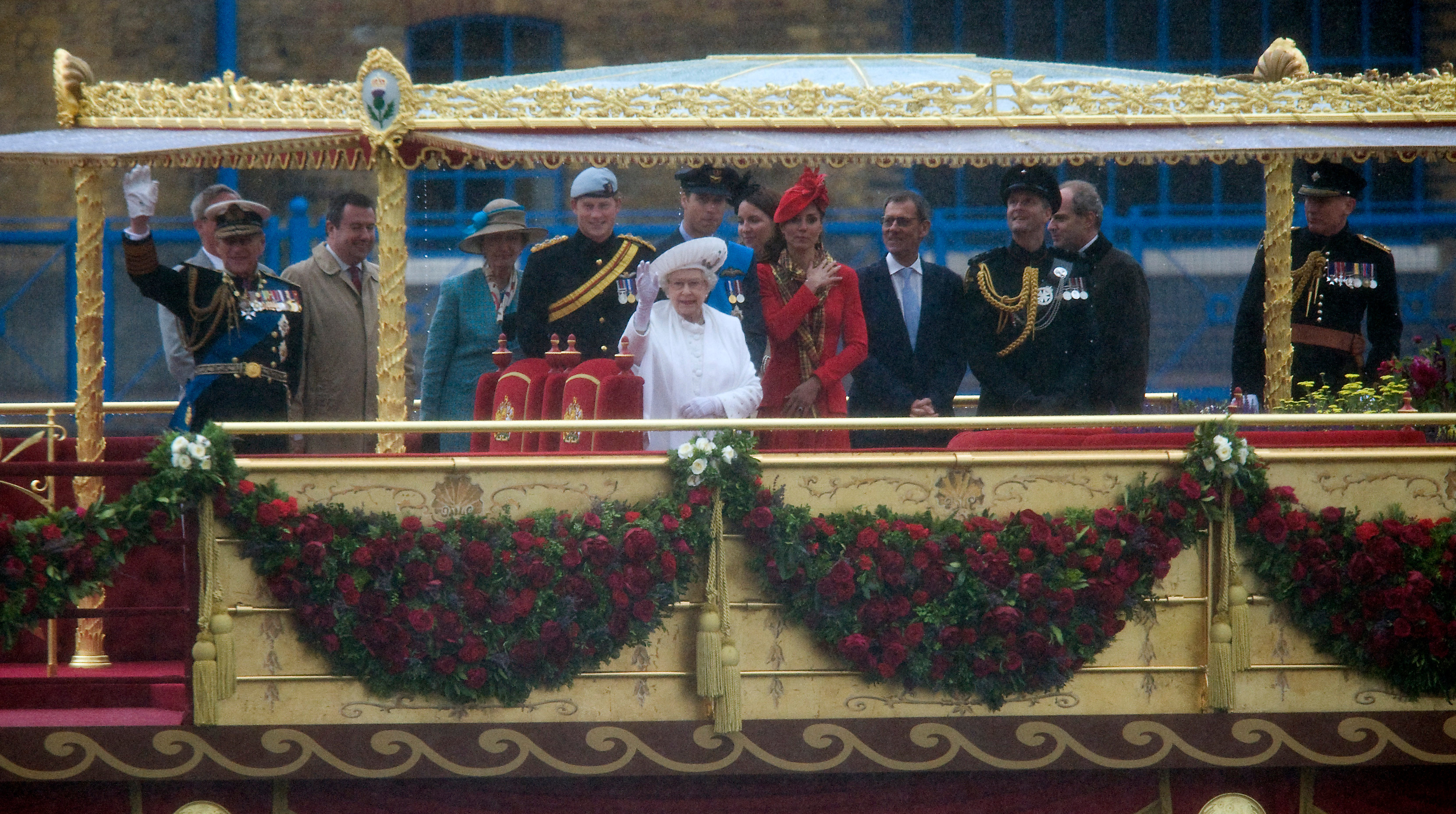 The Queen celebrated 60 years on the throne at her Diamond Jubilee