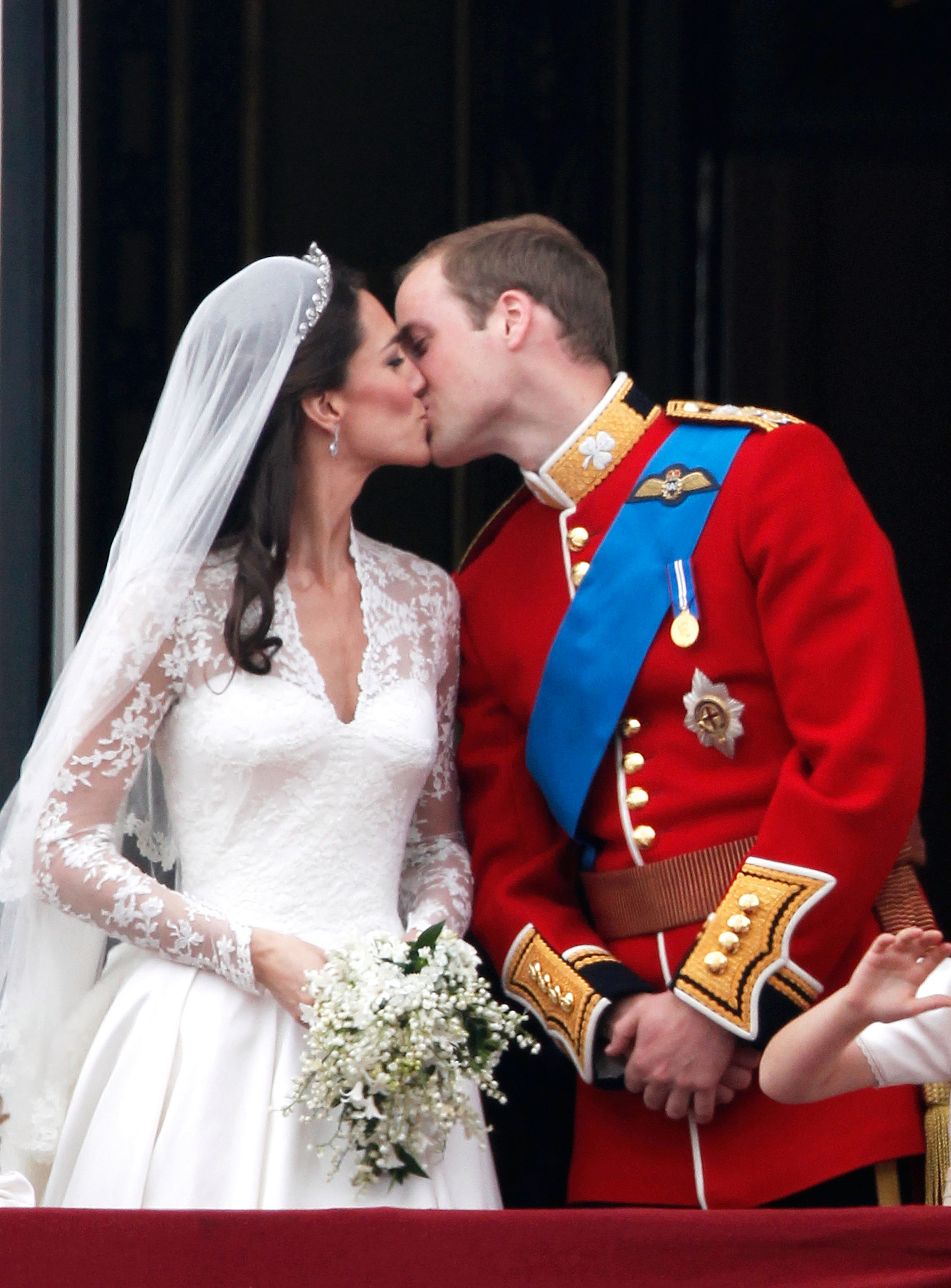 William and Kate kissing on the Buckingham Palace balcony took the young couple into the nation's hearts