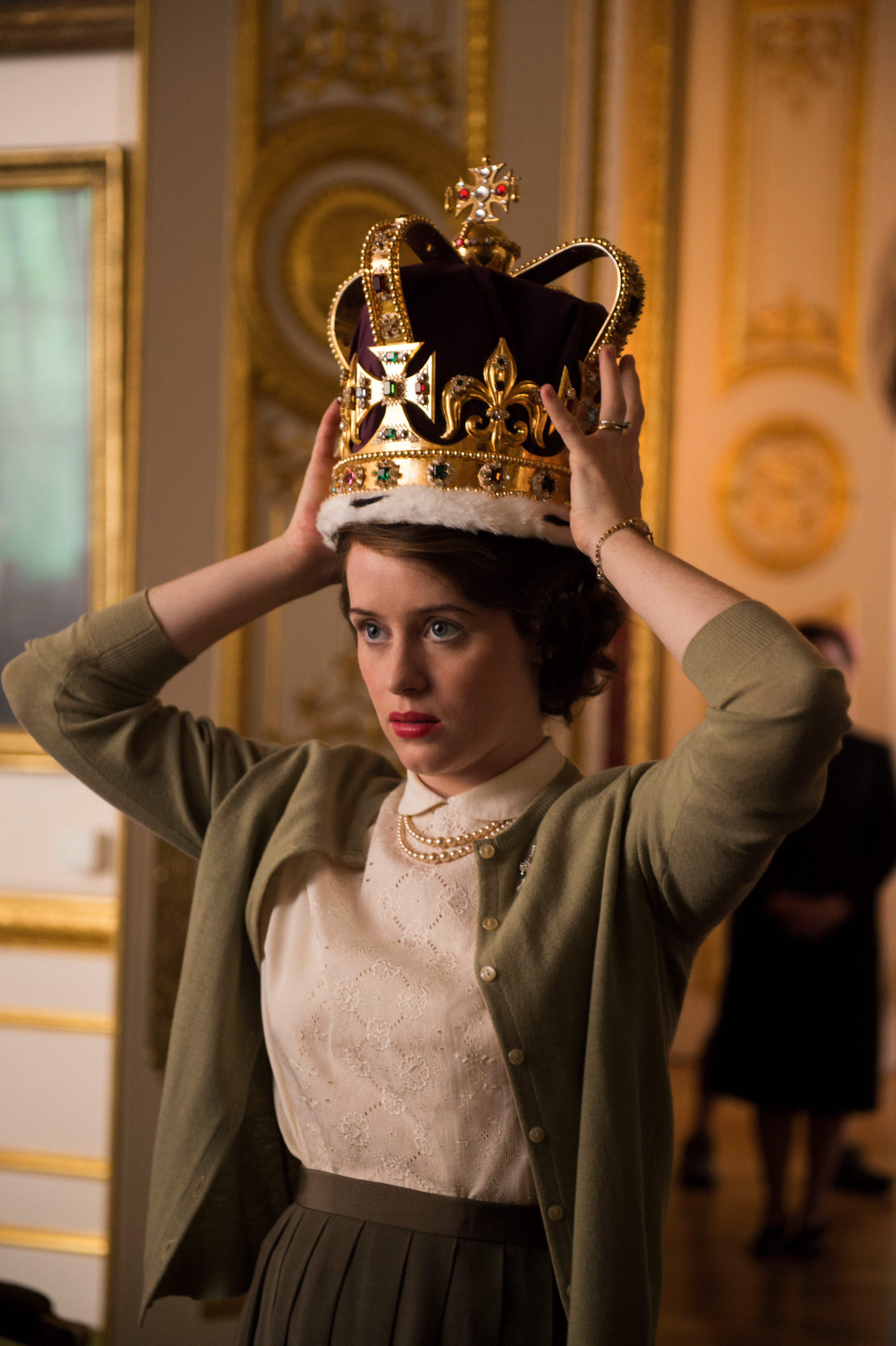 Claire Foy starred as a young Queen in The Crown
