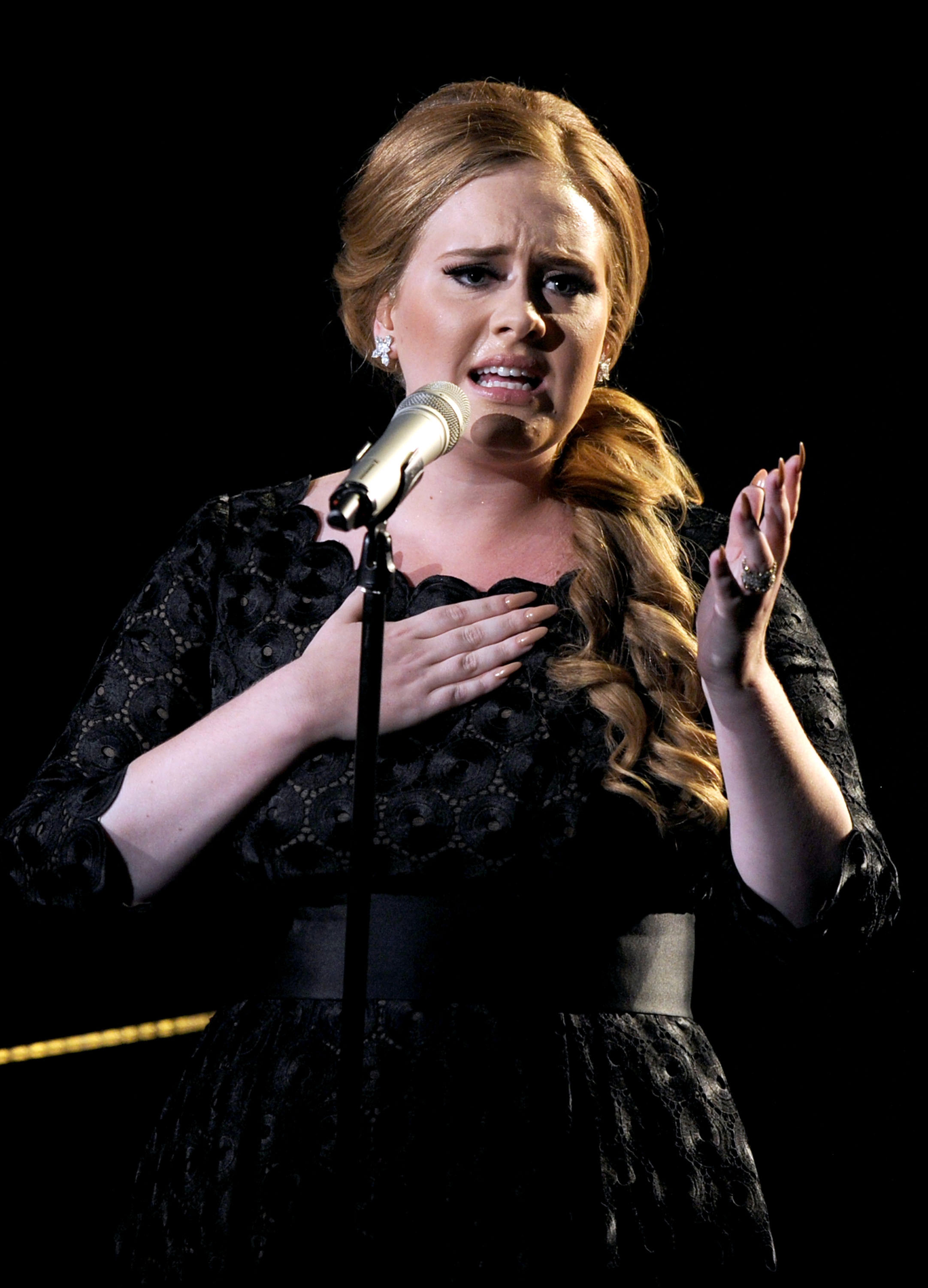 Adele claimed she gets inspiration while having a wee