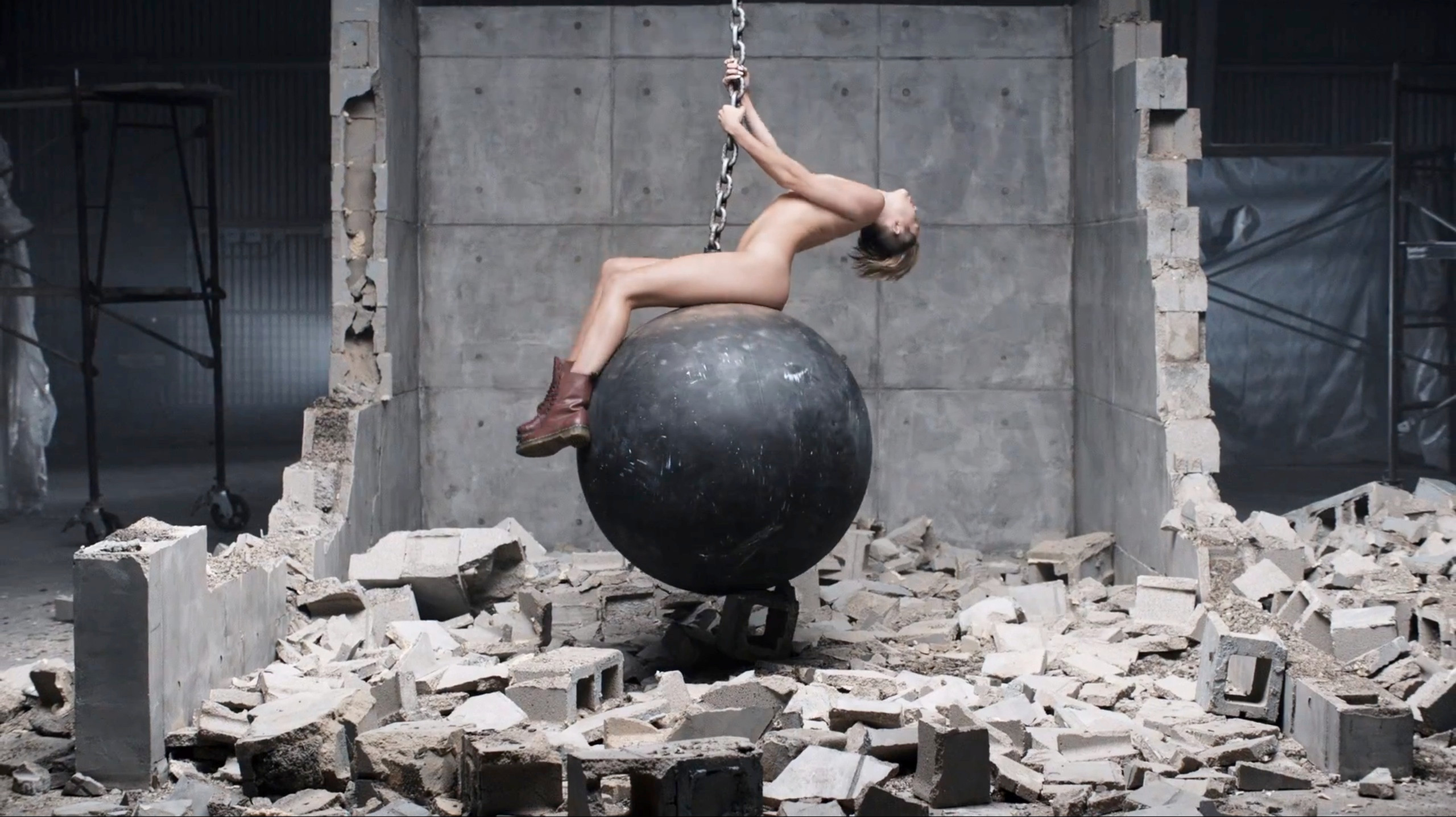Miley Cyrus' music video for Wrecking Ball became iconic