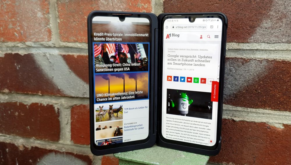 LG G8X with dual screen