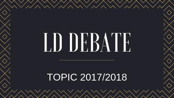 17/18 LD debate topics