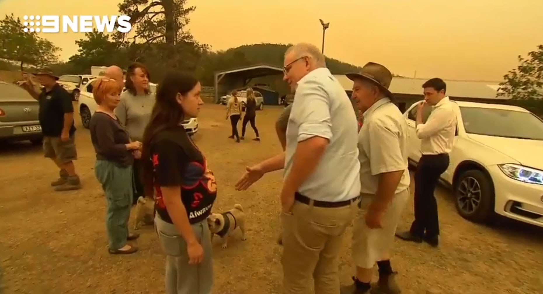 Aussie PM Scott Morrison was heckled and retreated to his limo after residents refused to shake his hand in fire-hit Cobargo