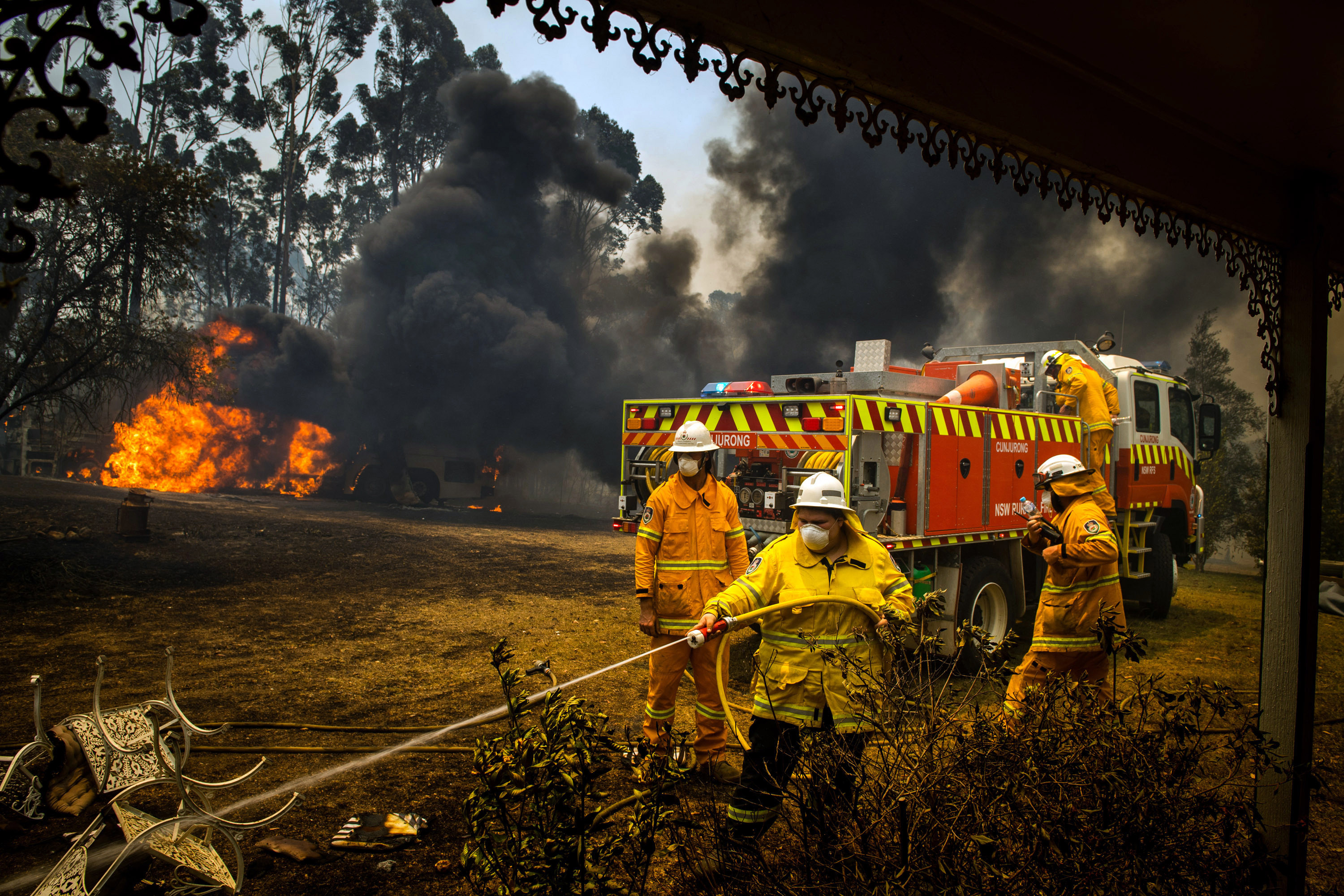 Thousands of firefighters have worked tirelessly through Christmas and New Year's in an effort to beat the flames