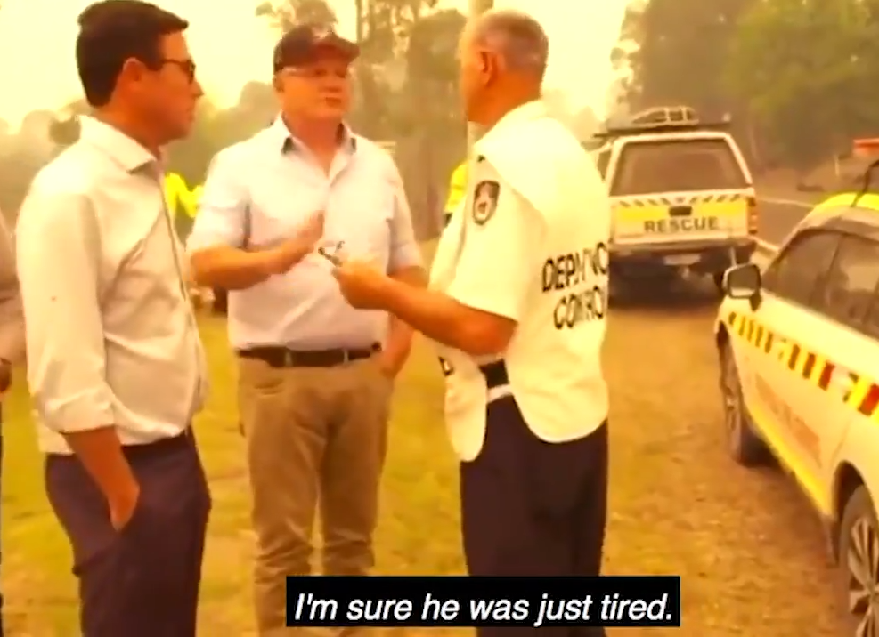 An official later told Morrison the firefighter had lost a house