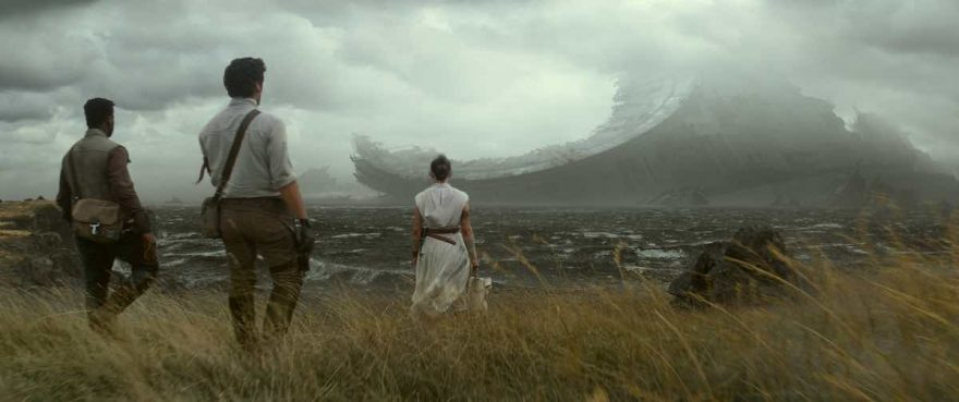 Star Wars: The Rise of Skywalker - Finn, Poe & Rey look out at Death Star Remnants
