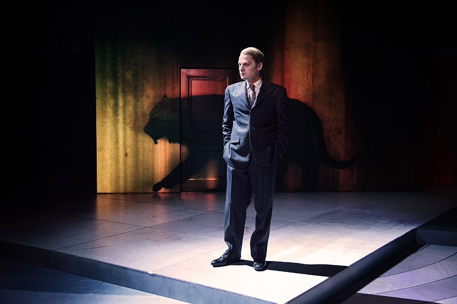 Christopher Geary as Vladimir Putin in the world premiere of Kleptocracy at Arena Stage. Set design by Misha Kachman. Photo by C. Stanley Photography.