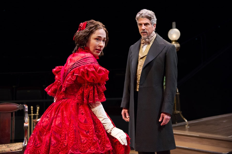 Laura C. Harris as Catherine Sloper and James Whalen as Dr. Austin Sloper in The Heiress at Arena Stage. Photo by C. Stanley Photography.