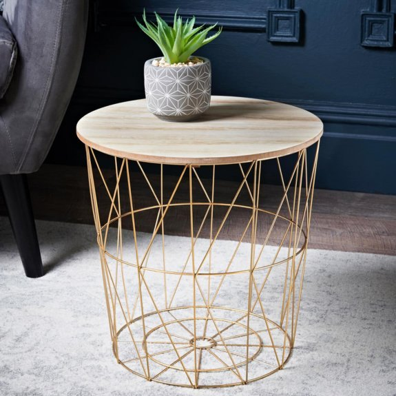This table can fill space left by festive decorations