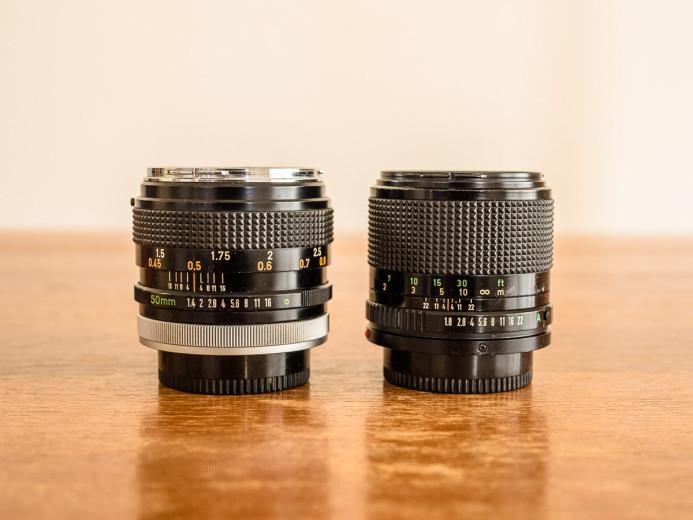 Canon FD Breech Lock & Bayonet Lens Mounts