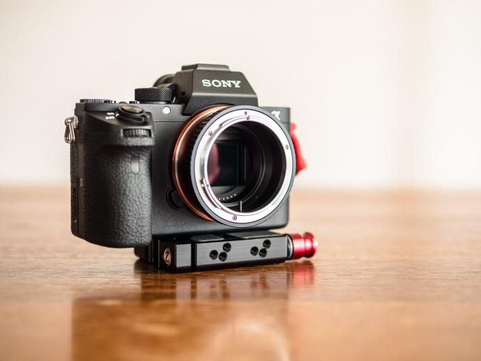 Mount adapter on camera