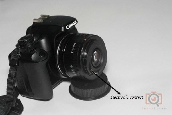 50mm lens reverse mounted on canon 1000D -- reverse lens technique