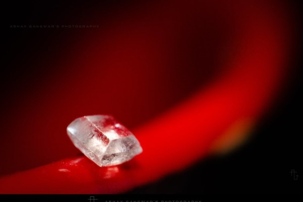sugar crystal macro photography using reverse lens