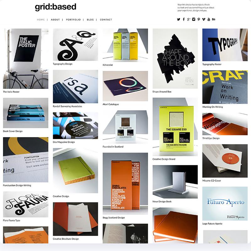 Grid Based WordPress Theme Fullscreen