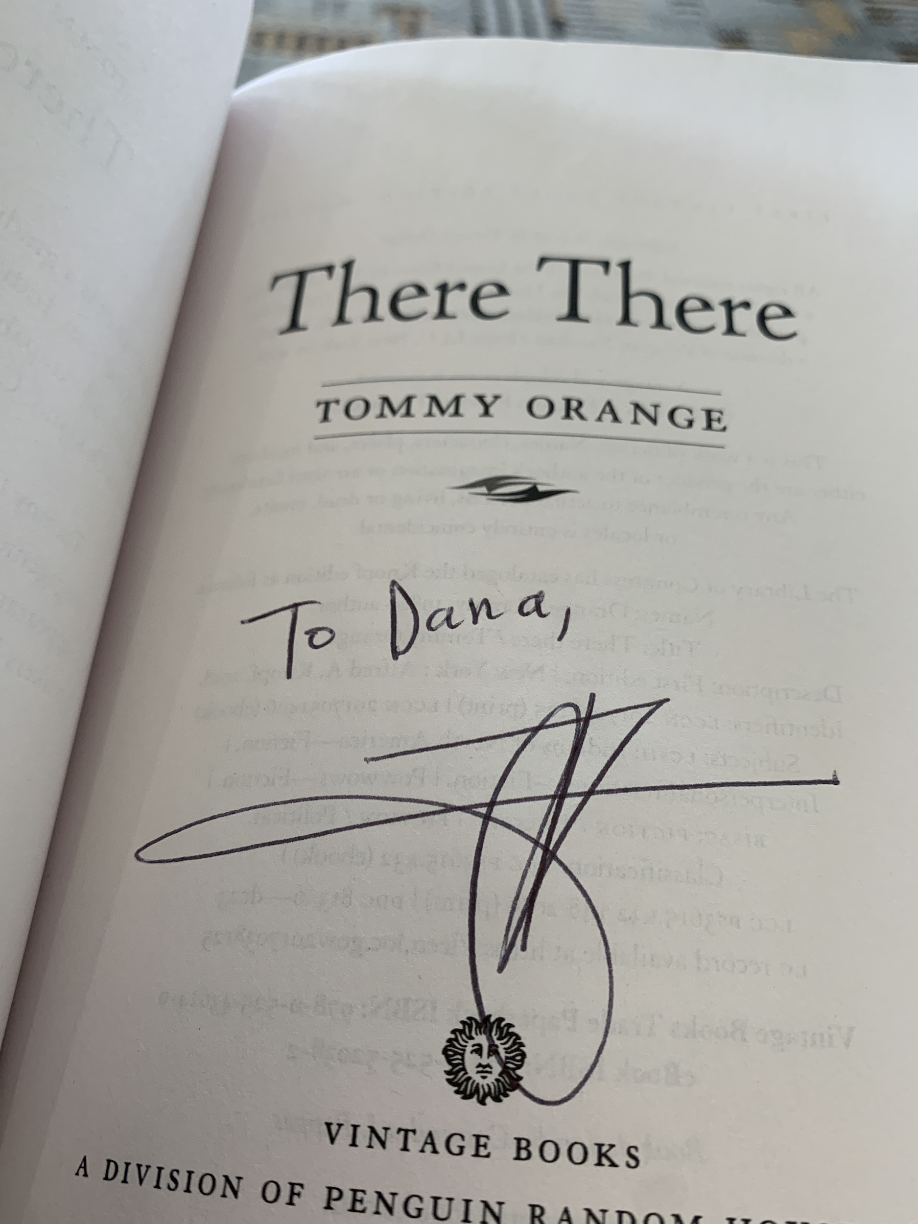 Tommy Orange Book Inscription