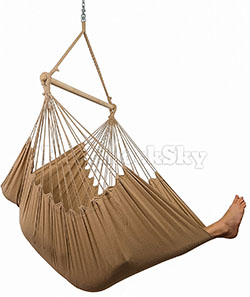 Hammock Sky XXL Hammock Chair with Hanging Hardware and Drink Holder (Iced Coffee)