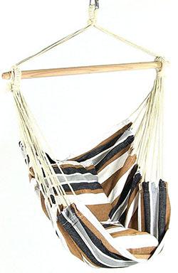 Sunnydaze Hanging Hammock Chair Swing, Calming Desert, for Indoor or Outdoor Use