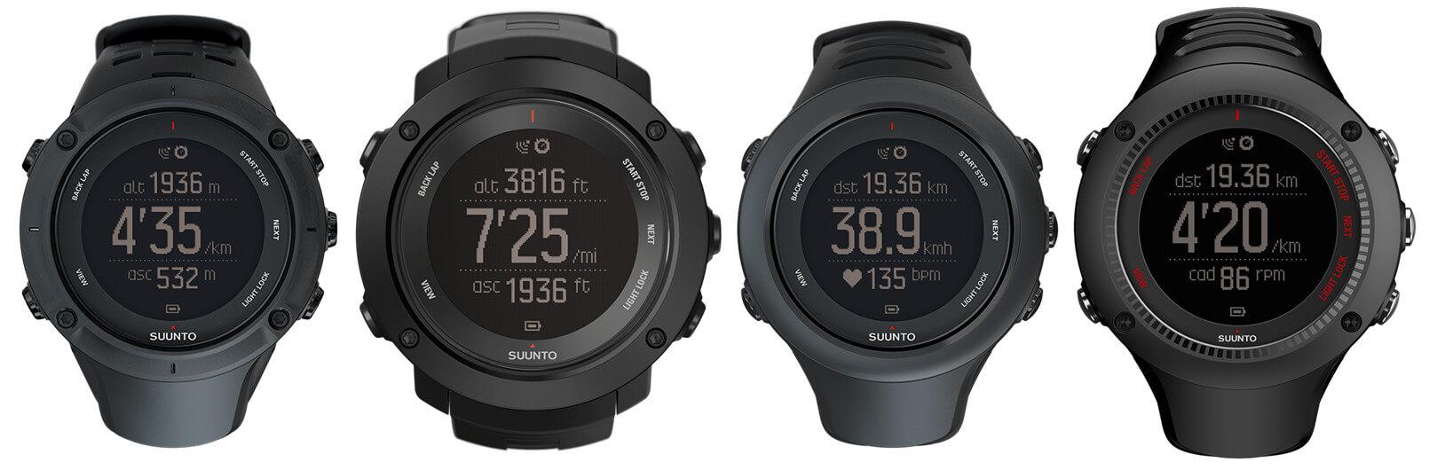 Suunto Ambit3 Waterproof (50-meter and 100-meter WR) GPS Smartwatches - Peak, Vertical, Sport, Run