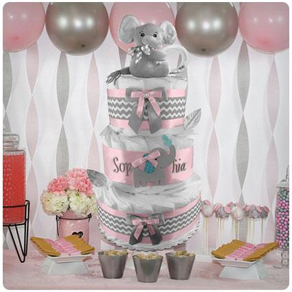 Elephant 3-Tier Diaper Cake