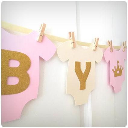 Bodysuit Baby Shower Banner