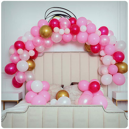 Pink Party Balloons Arch and Garland Kit