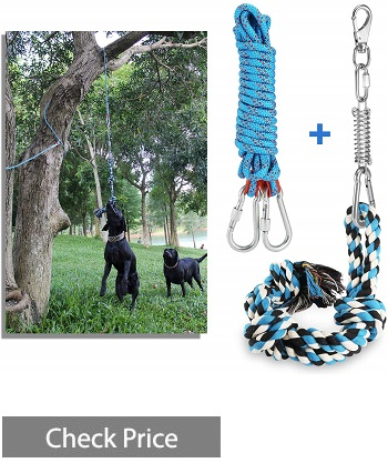 DIBBATU Spring Pole Dog Rope Toys