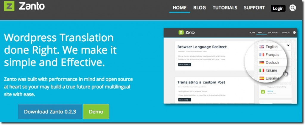 Zanto Plugin WordPress