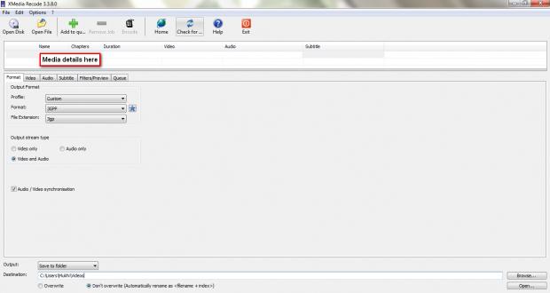 XMR Format tab