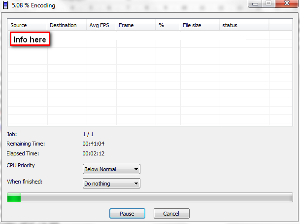 XMR Encoding window