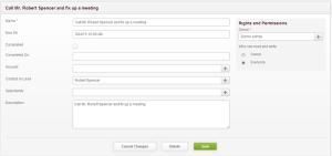 Zurmo CRM Create Tasks