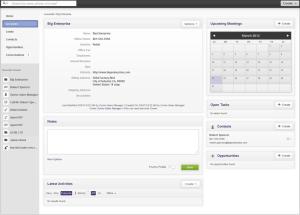 Zurmo CRM Account Details