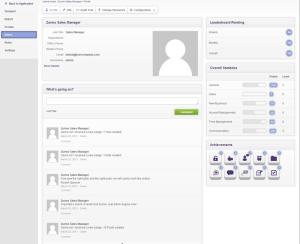 Zurmo CRM User Profile Showing Badges