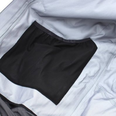This photo shows the right side interior pocket on the Stio Environ Jacket.