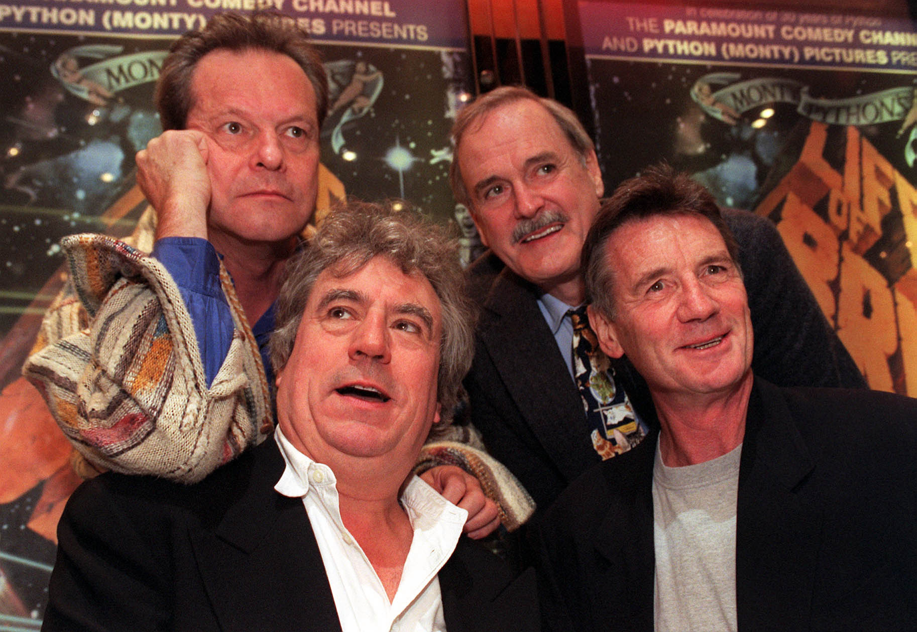 The Monty Python stars pose together in 1999