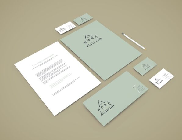 Perspective Branding Stationery Mockup
