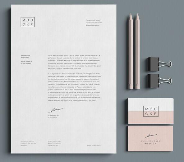 Advanced Branding Stationery Mockup