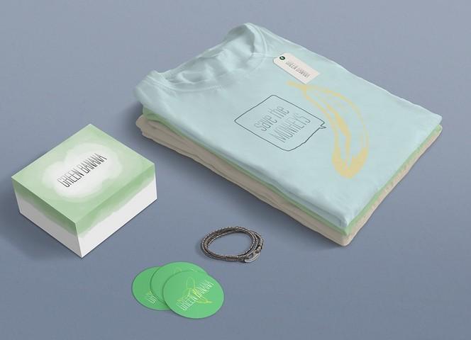 Green Banana - FREE PSD Mockup - Clothes Branding