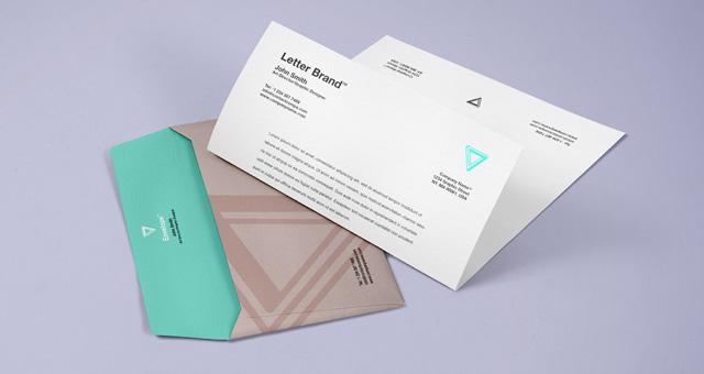 Envelope Letter Psd Branding Mockup