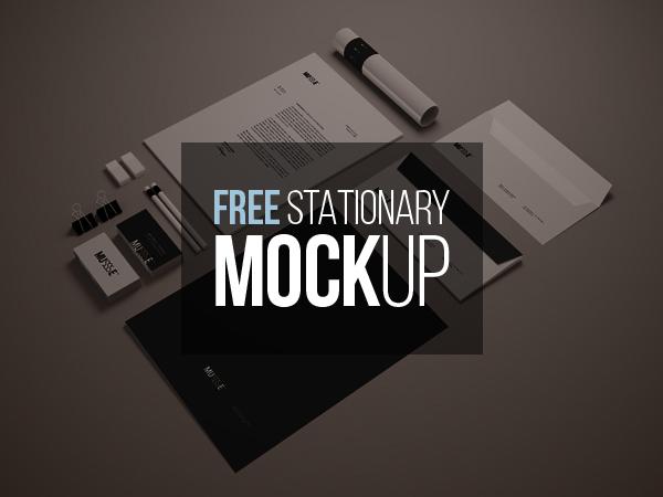 Free Stationary Mockup (Psd Smart Object)