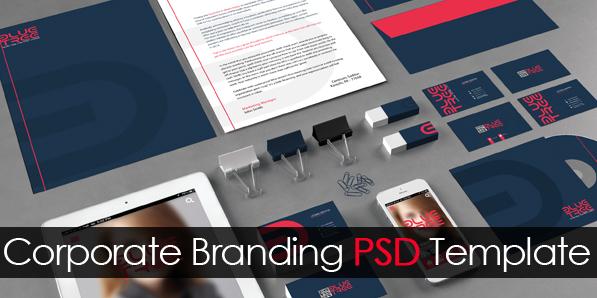 Free Corporate Branding PSD Template