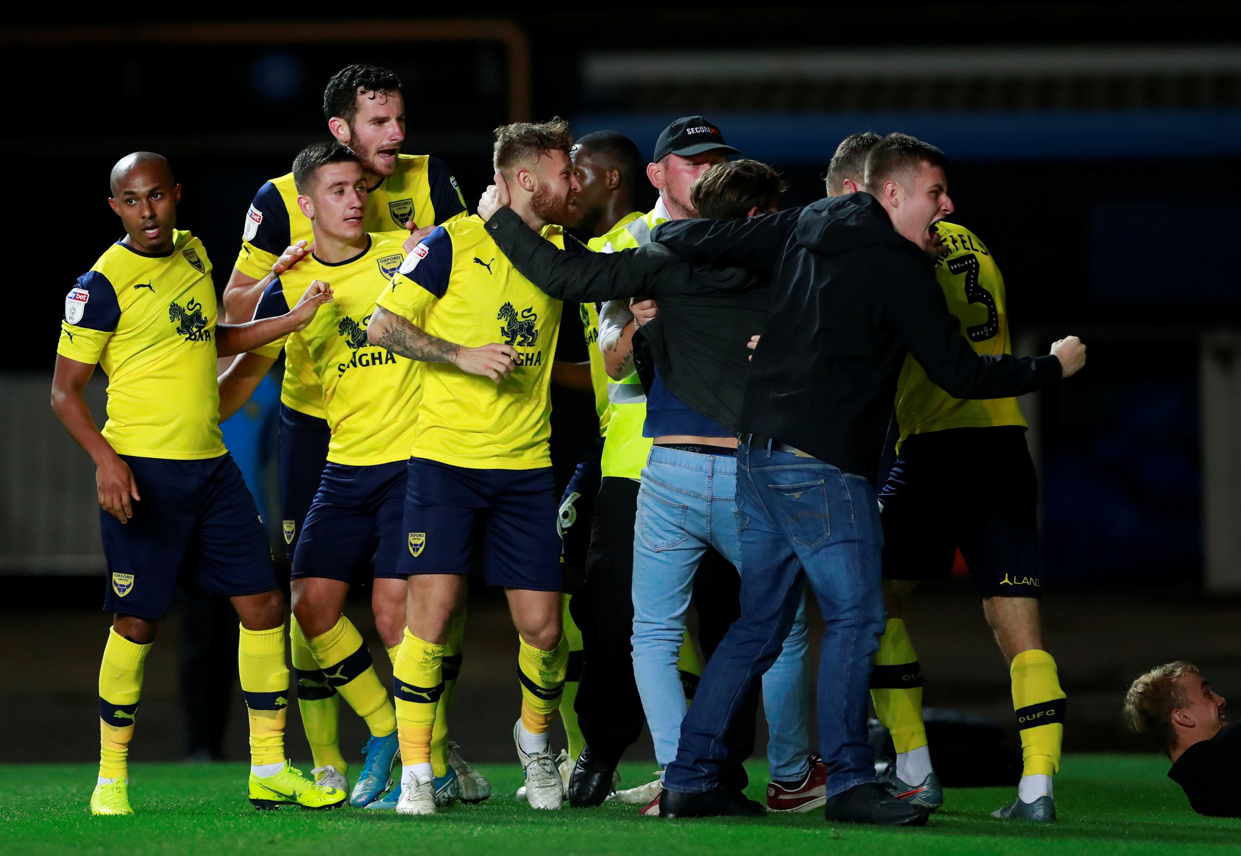 Oxford fans couldn't believe what they were witnessing as West Ham were blown away