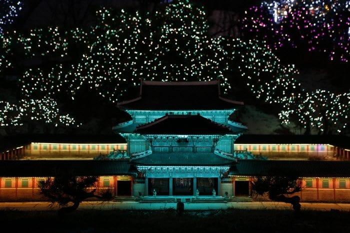 winter activities in korea World Nightview Fantasy Lighting Festival