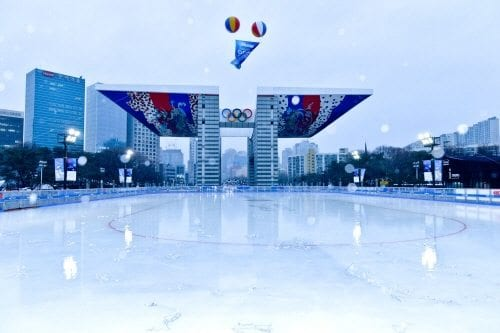 winter activities in korea olympic park ice skating