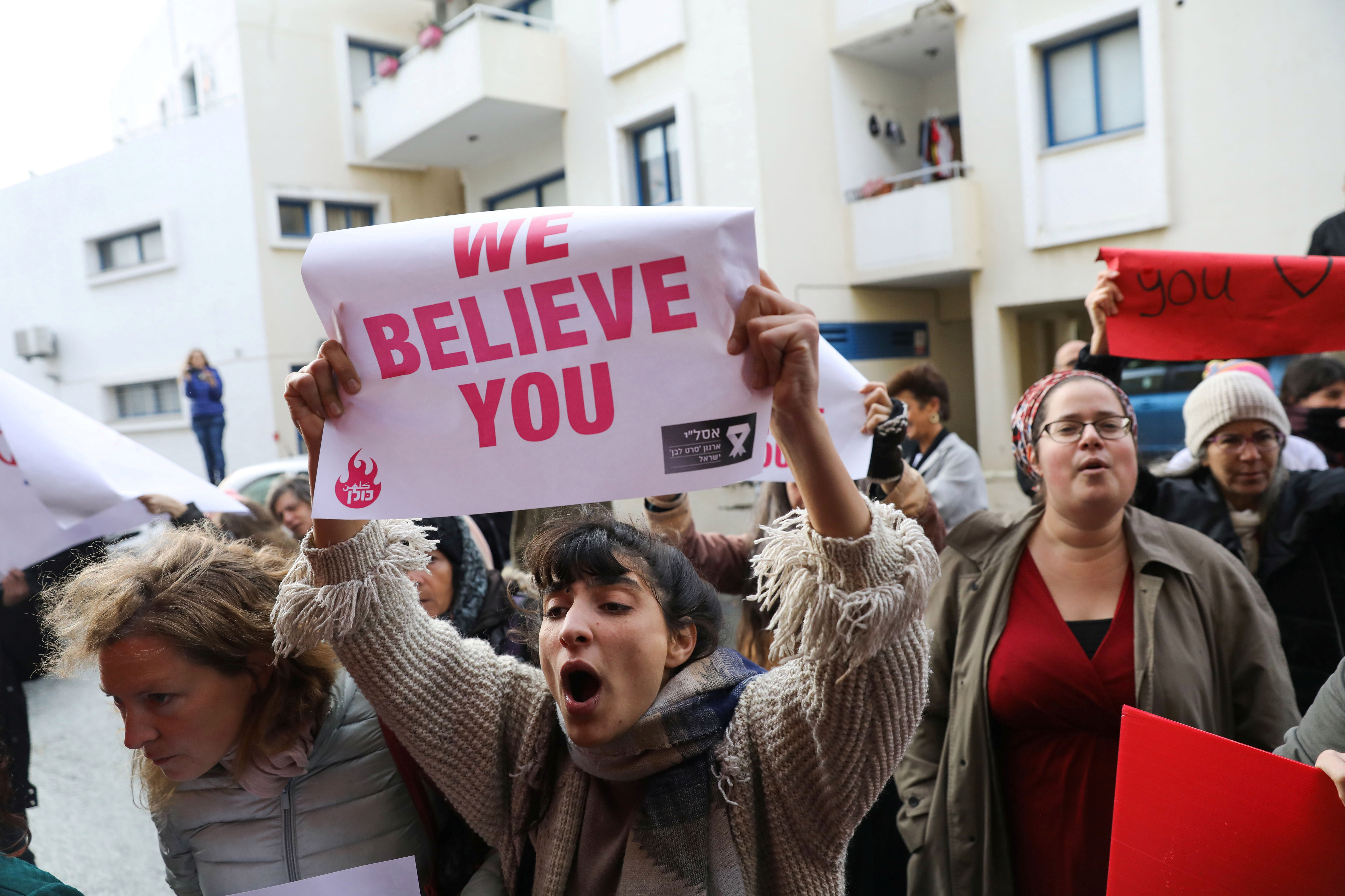 Protesters gathered in the UK and Cyprus ahead of her sentencing